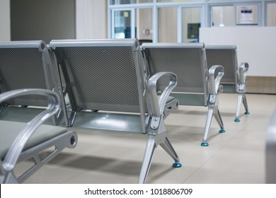 Chairs in the hospital . hospital interior