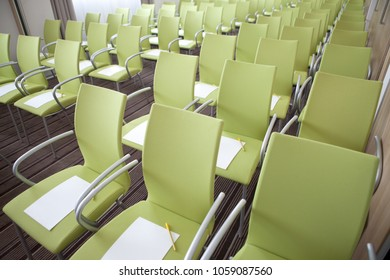 Chairs in the lecture hall