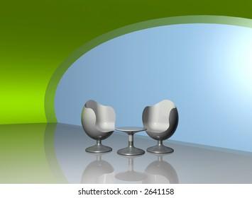 Chairs in modern design