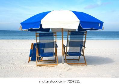 Chairs on the beach (closeup)