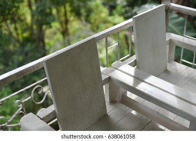 Chairs on the terrace