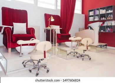 Magnificent Pedicure Chair Images Stock Photos Vectors Shutterstock Machost Co Dining Chair Design Ideas Machostcouk