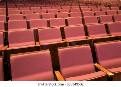 Chairs seat in the theater