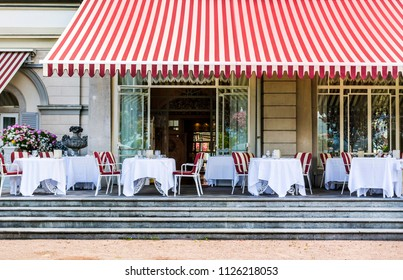 Chairs and Tables at an Luxury Italian Restaurant