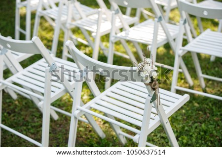 Chairs Wedding Decor Guests Wedding Ceremony Stock Photo Edit Now