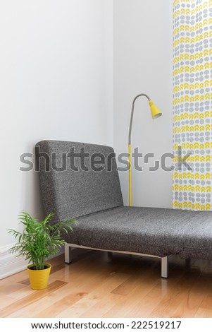 Chaise Longue In The Living Room Place For Relaxation A Modern Home