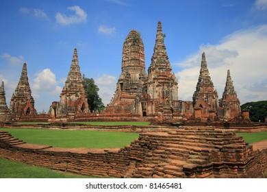 Chaiwattanaram, historic temple in Ayutthaya, Thailand