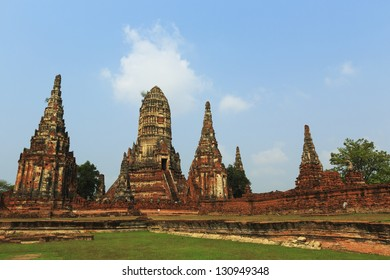 Chaiwattanaram temple in Ayutthaya Historical Park , Thailand