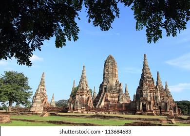 Chaiwatthanaram temple  at Ayutthaya in Thailand