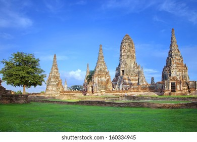 Chaiwatthanaram temple at Ayutthaya in Thailand and most famous for tourist