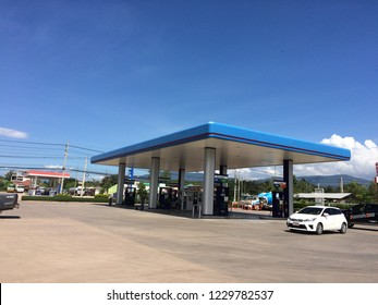 CHAIYAPHUM, THAILAND, November, 2018. The PTT gas station, the most famous oil company in Thailand.