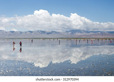 Chaka Qinghai Salt Lake scenery