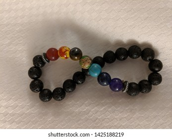 Chakra Bracelet in the shape of infinity