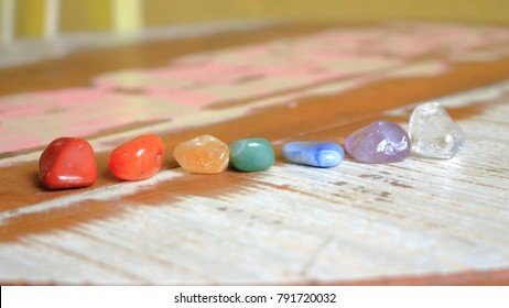 Chakras Stones to heal soul, mind and body. Reiki practicing
