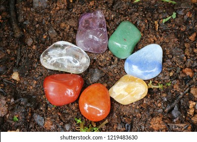 Chakras Stones to Heal stands on the earth to renovate energies