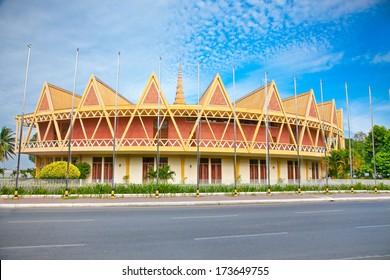 Chaktomuk Conference Hall in Phnom Penh, Cambodia.