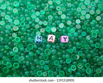 Chalcedony gemstone of the month of may,Birthstone,green background