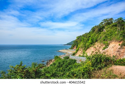 Chalerm Burapha Chonlathit Highway look from Noen Nangphaya View Point , Chanthaburi, Thailand