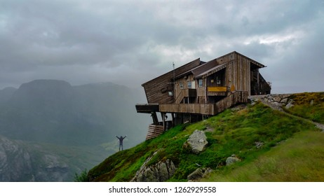 chalet in high mountains in kjerag and amazing views