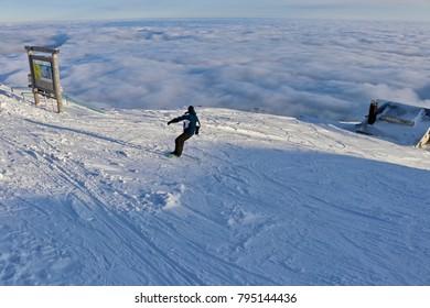 Chalet on Carpathian mountains, Sinaia, Romania