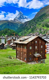 chalets in Zermatt, Swiss