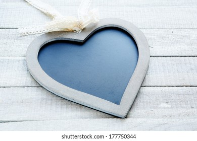chalk board in the shape of heart, decor