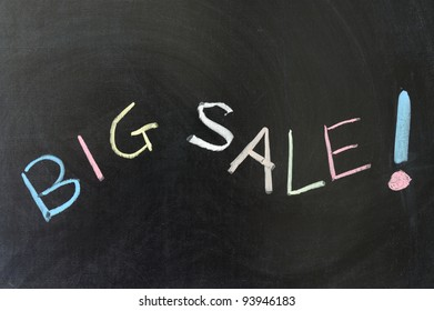 Chalk drawing - Big sale concept