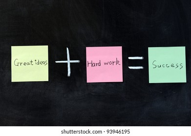 Chalk drawing - concept of success