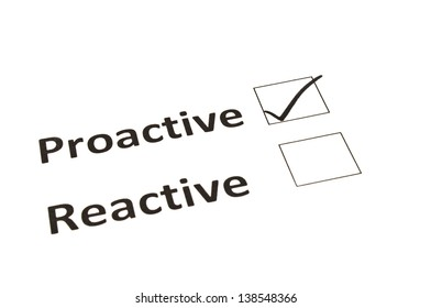 Chalk drawing - Proactive or Reactive concept