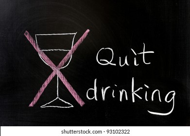Chalk drawing - Quit drinking