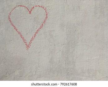 Chalk heart outline top left