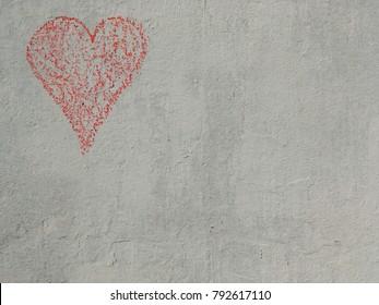 Chalk heart top left