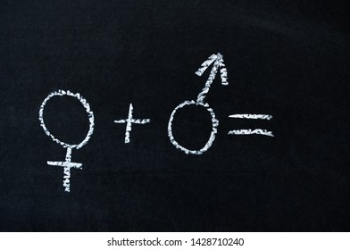 chalk on the Board male and female