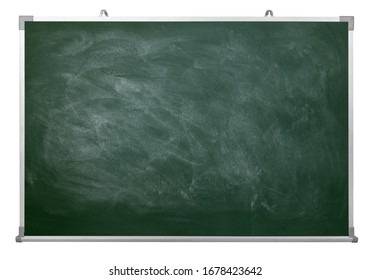 Chalk rubbed out on aluminum chalkboard with clipping path