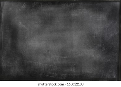 Chalk rubbed out on blackboard