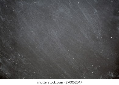 Chalkboard Background Retro Style Charcoal Gray Black Chalk Board with White Dust Eraser Marks