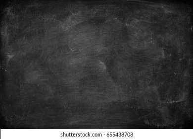 Chalkboard blackboard. Chalk texture school board display for background. chalk traces erased on board with copy space for add text or graphic design. Education concepts