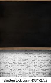 Chalkboard in classroom