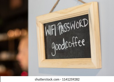 Chalkboard in a coffee shop