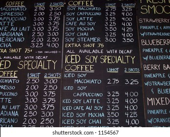 Chalkboard Coffee Sign