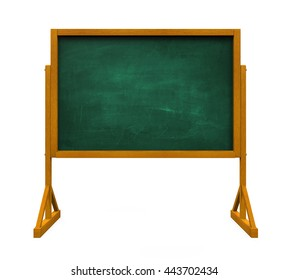 Chalkboard Isolated. 3D rendering