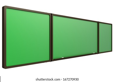 Chalkboard. isolated on white background. 3d