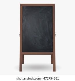 Chalkboard isolated on white background. 3D illustration