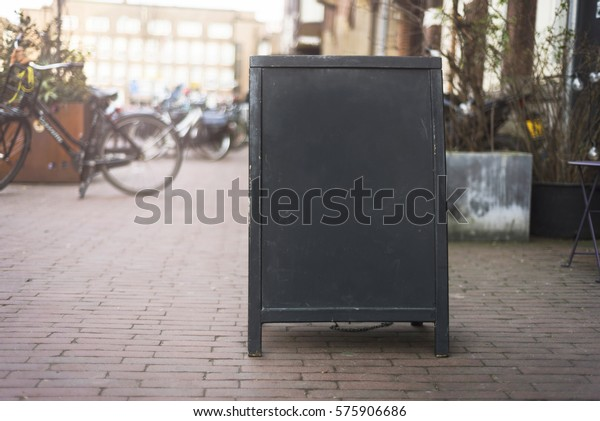 Chalkboard menu sign mockup