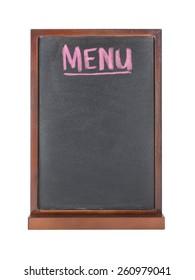 Chalkboard with MENU wording