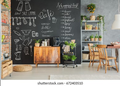 Kitchen Chalkboard Wall Images Stock Photos Vectors
