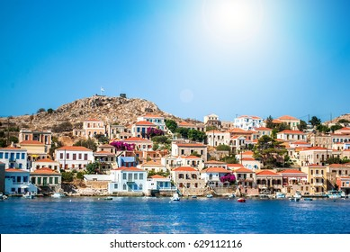 Chalki Island, one of the Dodecanese islands of Greece, close to Rhodes.