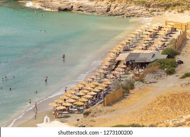 Chalkolimnionas beach at Andros island in Greece.