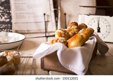 Challah in different shapes and sizes for the Sabbath and Rosh Hashanah