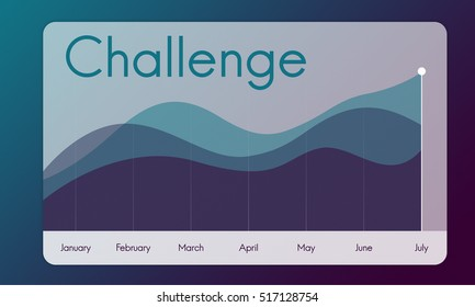 Challenge Business Graph Growth Success Concept
